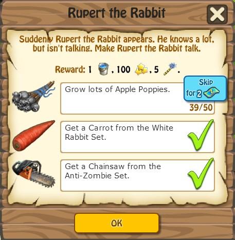 Rupert the Rabbit, Task
