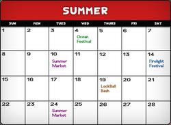 Summercalendar