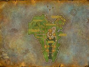 Insel von Quel'Danas Karte