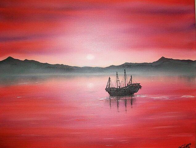 File:Red-sunset-boat.jpg