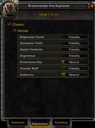 Character window-Reputation tab