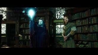 """WARCRAFT Movie Clip """"Medivh Finds Khadgar Snooping In The Library"""" - Ben Foster, Ben Schnetzer"""