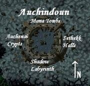 Auchindoun Instance Location Map