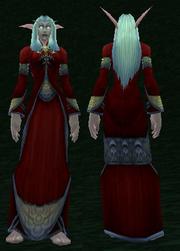 Crimson Silk Robe