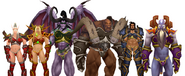 Lor'themar Kael'thas Illidan Garrosh Varian and Velen in Plate Bikini