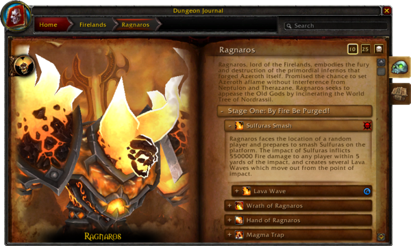Dungeon Journal-Firelands-Ragnaros-expanded power-4 2 0 14313