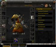 Character window-Titles pane
