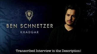Ben Schnetzer Warcraft Movie On-Set Interview