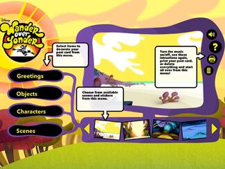 WOY GG - Post card creation screen
