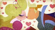 S1e9a Storybook Brad and Demurra kissing