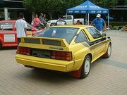 Mitsubishi Starion Yellow rally car