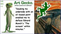 Art gecko the scream2