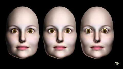Three women shaking NO. Warning! Not for mentally weak persons! Trippy spooky visual illusion.