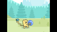 104 Wubbzy Carrying Kickety-Kick Ball