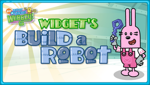 Widget's Build a Robot Title Screen
