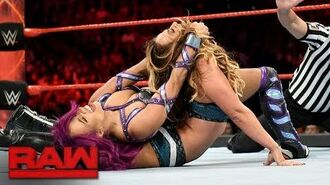 Sasha Banks vs. Alicia Fox vs. Emma - Triple Threat Qualifying Match- Raw, Aug. 7, 2017