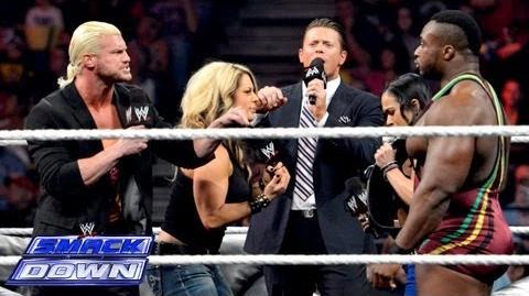 """Miz TV"" with Divas Champion AJ Lee & Big E Langston SmackDown, Aug"