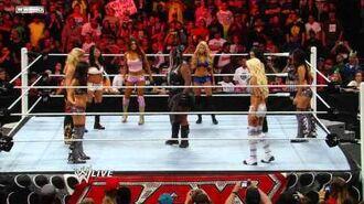 Raw- Eight-Diva Tag Team Match
