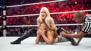 Maryse choking Mickie