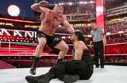 Brock punching Roman