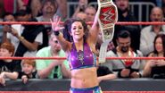 Bayley winning as WWE Womens Champion