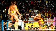 Hulk Hogan against Ultimate Warrior at Wrestlemania