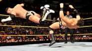 Alex Riley dropkick Johnny Curtis