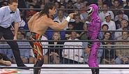 Eddie facing Mysterio