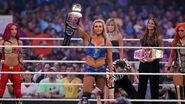 Sasha Charlotte Becky-Lynch at WrestleMania 32