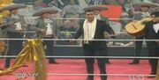 Alberto Del Rio celebrates on Raw