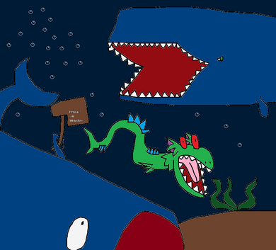 Beelzebub, Sharkzilla and Monstro