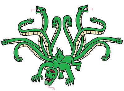 Ten Tailed Hydra's True Apperance (Fan-made)