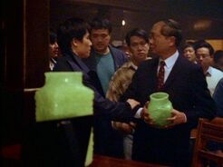 Glen Chao tries to stop the Vase Man