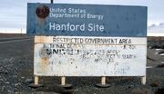 Hanford Site sign