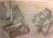 Fox Mulder's abduction sketches
