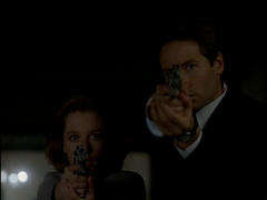 D.P.O. Mulder and Scully waits for Darren