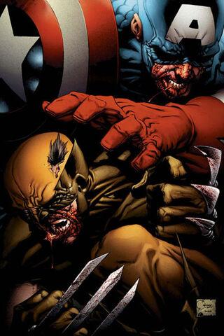 File:Wolverine VS. Captain America.JPG