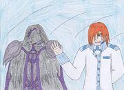 (Orochi and Kairo in secret)