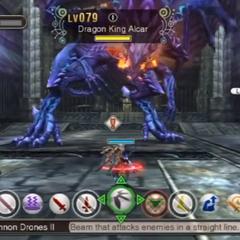 The battle against Dragon King Alcar