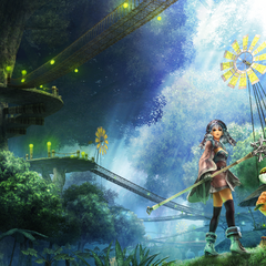Melia and Riki in Makna Forest (artwork)