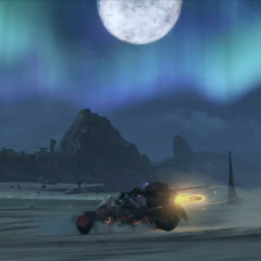 Driving through Oblivia at night
