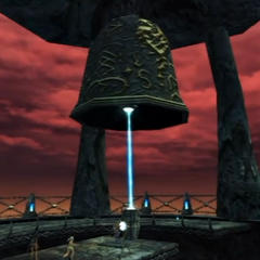 The bell of the Basverg Belfry ringing after activating the Dragon Summon switch
