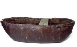 Coracle, much like St. Brendan used