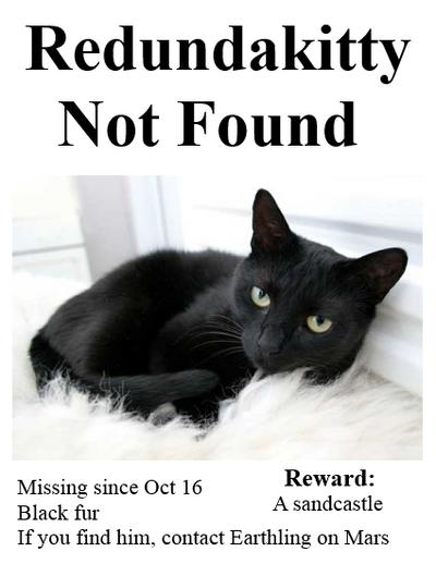 Missing redundakitty