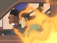 Walk on the Wild Side- Carjackers car on fire