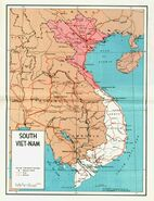 North and south vietnam map