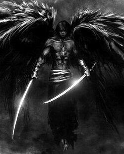 Dark-Angel-Warrior-with-Swords