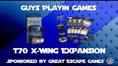 FFG Star Wars X-wing Miniatures - T70 X-Wing Expansion Unboxing