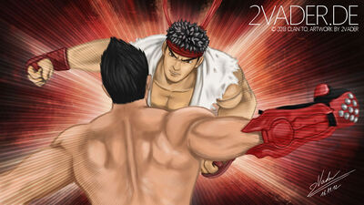 Streetfighter x tekken ryu vs jin finished by clanto-d60vsnt