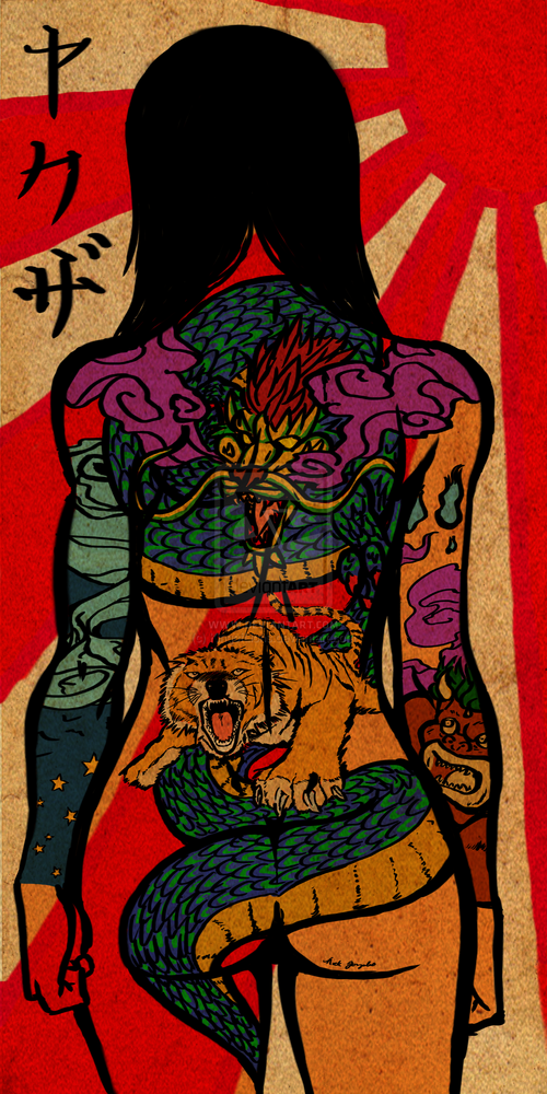 Yakuza girl scroll by kingoflions-d51p7mo